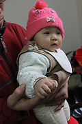 RUICHANG, CHINA -  (CHINA OUT) <br /> <br /> A Baby Girl Has 12 Fingers And 14 Toes<br /> <br /> Baby girl Niu Niu is seen  in Ruichang, Jiangxi Province of China. Zhu Limin, 37, gave birth to Niu Niu on May 2 2012 Niu Niu has six fingers on each hand and seven toes on each foot. Niu Niu has a normal 13-year-old brother. Zhu Limin went to two local hospitals four times for antenatal examination, but none of doctors in the two hospitals found the abnormality. <br /> ©ChinaFoto/Exclusivepix