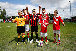 Community Trust mascots pose before the game - Mandatory byline: Rogan Thomson/JMP - 07966 386802 - 05/07/2015 - SPORT - Football - Bristol, England - Brislington Stadium - Bristol City v Keynsham Town & Brislington FC - Pre Season Community Match.