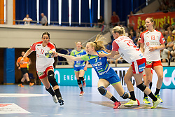 Janja Rebolj of Slovenia during handball match between Women national teams of Slovenia and Denmark in Round #5 of Qualifications for Women's EHF EURO 2018 Championship in France, on May 30, 2018 in Sports hall Golovec, Celje, Slovenia. Photo by Urban Urbanc / Sportida