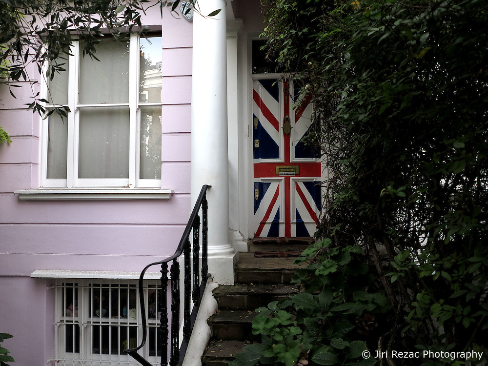 UK ENGLAND LONDON 12OCT13 - Union Jack door at the entrance to a private home in Notting Hill, west London.<br /> <br /> <br /> <br /> jre/Photo by Jiri Rezac<br /> <br /> <br /> <br /> &copy; Jiri Rezac 2013