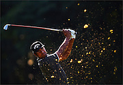 Tony Finau hits his tee shot on the fourth hole during the second round of The Barclays Championship held at Plainfield Country Club in Edison, New Jersey on August 28.