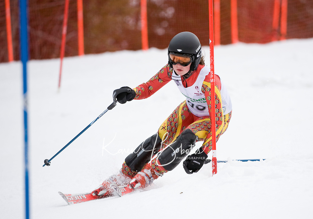 J4 girls second run of slalom during  BWL Championships at Gunstock Mountain Resort March 13, 2010....