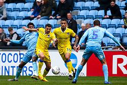 Liam Sercombe of Bristol Rovers takes on Dujon Sterling of Coventry City - Mandatory by-line: Robbie Stephenson/JMP - 07/04/2019 - FOOTBALL - Ricoh Arena - Coventry, England - Coventry City v Bristol Rovers - Sky Bet League One