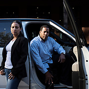 May 3, 2017 - New York, NY : Tiffany, left, and Kevin Chiles pose for a portrait with their SUV -- which sometimes functions as their mobile workstation -- on Washington Street in Chelsea on Wednesday afternoon. The two are the founders and publishers of Don Diva magazine.  CREDIT: Karsten Moran for The New York Times