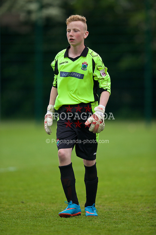 NEWPORT, WALES - Wednesday, May 27, 2015: North WPL Academy Boys' goalkeeper Thomas Douglas during the Welsh Football Trust Cymru Cup 2015 at Dragon Park. (Pic by David Rawcliffe/Propaganda)