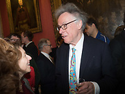 ANDREW BARROW, Literary Review Christmas drinks and  Bad Sex in fiction Awards, In and Out club. St. James's Sq. London. 30 November 2017