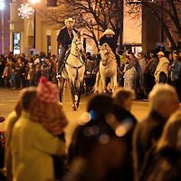 Adam Robison | BUY AT PHOTOS.DJOURNAL.COM<br /> D'Casa Mexican restaurants, ride horses in the Tupelo Christmas Parade.