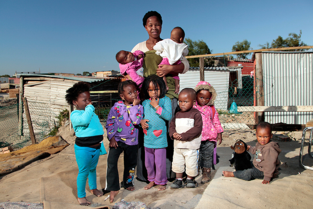 One of several creches at Isiqalo Informal settlement that look after children whilst their parents are at work. Vanguard Drive, Cape Town, South Africa.<br /> &copy;Zute Lightfoot / Legal Resources Centre