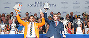 Henley on Thames, England, United Kingdom, 7th July 2019, Henley Royal Regatta, Prize Giving, The Silver Goblets & Nickalls' Challenge Cup, A. Diaz & A. Haack Argentina, [© Peter SPURRIER/Intersport Image]<br /> <br /> 17:37:01 1919 - 2019, Royal Henley Peace Regatta Centenary,