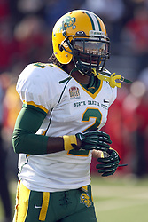 17 November 2012:  Brendin Pierre during an NCAA Missouri Valley Football Conference football game between the North Dakota State Bison and the Illinois State Redbirds at Hancock Stadium in Normal IL