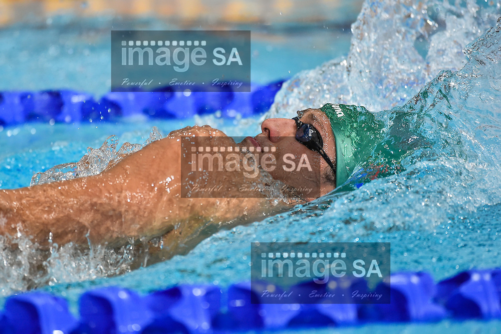GLASGOW, SCOTLAND - JULY 25: Sebastien Rousseau of South Africa in the mens 400m Individual Medley final during the swimming on day 2 of the 20th Commonwealth Games at Tollcross Swimming Centre on July 25, 2014 in Glasgow, Scotland. (Photo by Roger Sedres/ImageSA)
