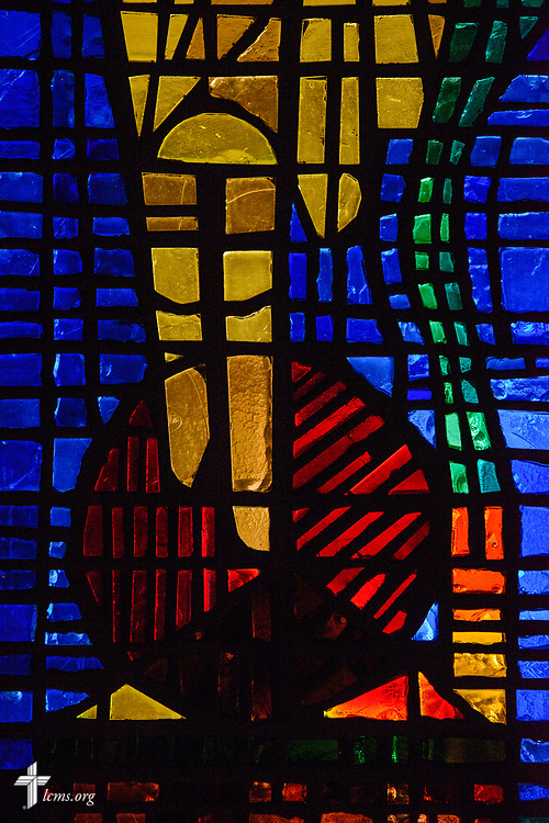 Stained glass at Faith Lutheran Church on Tuesday, Aug. 1, 2017, in Sioux Falls, SD.  LCMS Communications/Erik M. Lunsford