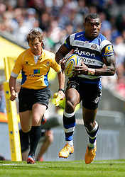 Bath Winger Semesa Rokoduguni in action - Photo mandatory by-line: Rogan Thomson/JMP - 07966 386802 - 30/05/2015 - SPORT - RUGBY UNION - London, England - Twickenham Stadium - Bath Rugby v Saracens - 2015 Aviva Premiership Final.