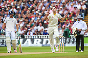 Australian bowler Mitchell Marsh during the 3rd Investec Ashes Test match between England and Australia at Edgbaston, Birmingham, United Kingdom on 30 July 2015. Photo by Shane Healey.