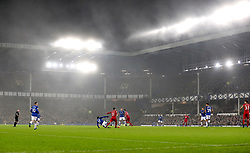 A general view of the match action during the Premier League match at Goodison Park, Liverpool.