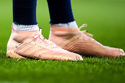 The boots of Aymeric Laporte of Manchester City - Mandatory by-line: Robbie Stephenson/JMP - 19/09/2018 - FOOTBALL - Etihad Stadium - Manchester, England - Manchester City v Lyon - UEFA Champions League Group F
