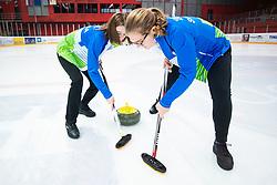 KUCINA Maja and ZAVELJCINA Ajda during Curling Training session U15 on November 24, 2019 in Arena Podmezakla Hall, Ljubljana, Slovenia. Photo by Peter Podobnik / Sportida