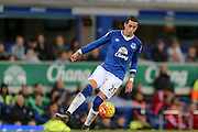 Everton defender Ramiro Funes Mori   during the Barclays Premier League match between Everton and Swansea City at Goodison Park, Liverpool, England on 24 January 2016. Photo by Simon Davies.