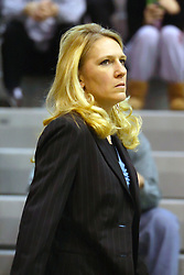 10 January 2009: Titan head coach Mia Smith. The Illinois Wesleyan Titans, ranked #1 in the latest USA Today/ESPN poll, take down the Lady Reds of Carthage and remain undefeated,  2-0 in the CCIW and over all to 12-0. This is the first time in the history of the Lady Titans Basketball they have been ranked #1 The Titans and Lady Reds played in the Shirk Center on the Illinois Wesleyan Campus in Bloomington Illinois.