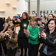 05/03/2019<br /> Parents and teachers of students from St John's NS Cratloe take some photos during the ceremony.<br /> <br /> Fairtrade worker Sara Montoya, from a Fairtrade Coffee Co-op in Colombia was the special guest in Limerick City and County Council chamber today at an event to coincide with Fairtrade Fortnight.<br />  <br /> Sara joined Fairtrade supporters from across Limerick and Ireland for the annual initiative, which features a programme of talks and community events aimed at promoting awareness of Fairtrade and Fairtrade-certified products.<br />  <br /> Speaking at the event in Dooradoyle, Sara outlined the success and benefits of the Fairtrade movement in Colombia and how important it is for people in the developed world think of Fairtrade products when shopping.<br />  <br /> This year's campaign 'Create Fairtrade' invites us all to use our imagination and create fairtrade in our lives.<br />  <br /> Young people from across Limerick city and county were also a focus of the event as they displayed their posters, which they created to help change the way people think about trade and the products on our shelves.<br /> Photo by Diarmuid Greene