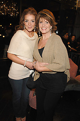 Left to right, MISS KATHERINE RUSSELL and her mother JANE RUSSELL at the opening party of hairdresser Paul Edmond's new salon at 217 Brompton Road, London SW3 on 18th March 2008.<br /><br />NON EXCLUSIVE - WORLD RIGHTS