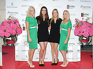 27/9/14***NO REPRO FEE*** Pictured is Michaela O'Neill Lee Roberts, Kate O'Connell and Ciara Walsh as Dublin's ladies turn out for a fashionable Cocktail Evening in aid of the Caroline Foundation Pic: Marc O'Sullivan  Friday 26th September: Last night saw a slice of high-end NY style hit Dublin, arriving at The Four Seasons.  Stylish ladies turned out in force to support the event and to mark the start of Breast Cancer Awareness month. The fundraiser, which was a sell-out was the brainchild of Paula McClean a breast cancer survivor and tireless fundraiser. Combining her love of fashion and a good party, the first Cocktail Club Event was born. With a great night of style, fun and raising a lot of money for cancer research, it is no wonder it was a sell- out.  The lucky ladies were treated to a special fashion Show by Brown Thomas who show cased their designers in a salon style. The show featured a selection of key looks mirroring trends from the international runways. The mood for AW14 is easy, elegant, casual and chic. New labels to love include Jenny Packham, Valentino, Osman, Brunello Cucinelli and Moschino. Curated by the affable Michelle Curtain, the clothes were a show-stopper. In keeping with the era of the collection, the evening had a distinctive New York retro theme. Signature 'Original' cocktails from The Four Seasons, featuring Tanqueray London Dry Gin and Ketel-One with the trademark Copper Kettle serve, were the order of the day with eclectic tunes from club DJ Dom to keep the party going. All the lucky ladies went home with a luxury La Bougie Candle. The inaugural Cocktail Club in aid of the Caroline Foundation is the brainchild of Paula McClean a breast cancer survivor and tireless fundraiser. Commenting on the evening, 'Breast Cancer and the Caroline Foundation are very close to my heart and combining this with my love of fashion and a good party, we came up with the first Cocktail Club. We are looking forward to a great night of style, fun and