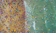 HAIKOU, CHINA - <br /> <br /> People Crowd At Beach In Haikou<br /> <br /> Aerial view of crowd at beach  in Haikou, Hainan Province of China. Thousands of people came to the beach in Haikou on the Dragon Boat Festival (aka Duanwu Festival)<br /> ©Exclusivepix Media