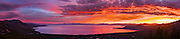 High resolution panoramic sunset over Lake Tahoe. 14 image stitch suitable for extremely large prints as well as any normal use.