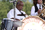 Photos of the Preservation Hall Jazz Band performing at The Great GoogaMooga festival at Prospect Park in Brooklyn, NY. May 19, 2012. Copyright © 2012 Matthew Eisman. All Rights Reserved.
