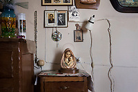 VERBANIA, ITALY - 18 APRIL 2017: Religious personal belongings of Emma Morano are seen here in her room in Verbania, Italy, on April 18th 2017.<br /> <br /> Emma Morano, born in 1899, was an Italian supercentenarian who, prior to her death at the age of 117 years and 137 days, was the world's oldest living person whose age had been verified, and the last living person to have been verified as being born in the 1800s. She died on April 15th 2017.