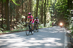 Roos Hoogeboom (NED) of Bizkaia-Durango Cycling Team rides on the climb leading to Moschlitz on Stage 1 of the Lotto Thuringen Ladies Tour - a 124.8 km road race, starting and finishing in Schleiz on July 13, 2017, in Thuringen, Germany. (Photo by Balint Hamvas/Velofocus.com)
