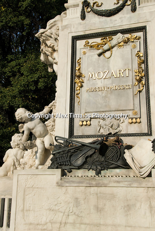 Vienna, the Mozart Monument