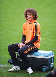 23.04.2012, Stadion Camp Nou, Barcelona, ESP, UEFA CL, Halblfinal-Rueckspiel, FC Barcelona (ESP) vs FC Chelsea (ENG), im Bild Chelsea's David Luiz sits out ahead the UEFA Championsleague Halffinal 2st Leg Match, between FC Barcelona (ESP) and FC Chelsea (ENG), at the Camp Nou Stadium, Barcelona, Spain on 2012/04/23. EXPA Pictures © 2012, PhotoCredit: EXPA/ Propagandaphoto/ David Rawcliff..***** ATTENTION - OUT OF ENG, GBR, UK *****
