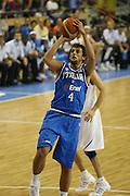 ALICANTE 03 SETTEMBRE 2007<br /> BASKET EUROPEI<br /> ITALIA-FRANCIA <br /> NELLA FOTO BELINELLI<br /> FOTO CIAMILLO-CASTORIA
