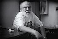 Roma 2000.Pier Luigi Concutelli, Terrorista di Ordine nuovo. Killer del giudice Vittorio Occorsio, nella sua cella nel carcera di Rebibbia.