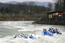 Delta Sport of Croatia vs Team Italy at Euro Cup 2009 R6 Rafting in TT & H2H and Slovenian National Championship 2009, on April 4, 2009, in Tacen, Ljubljana, Slovenia. (Photo by Vid Ponikvar / Sportida)