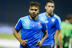 El Arabi Hilal Soudani #2 of GNK Dinamo Zagreb before football match between GNK Dinamo Zagreb, CRO and Arsenal FC, ENG in Group F of Group Stage of UEFA Champions League 2015/16, on September 16, 2015 in Stadium Maksimir, Zagreb, Croatia. Photo by Urban Urbanc / Sportida