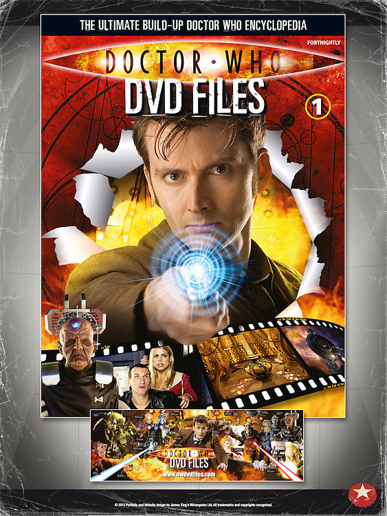 Doctor Who DVD Files - Front Cover Issue 1 and Monster Poster.<br /> http://www.dwdvdfiles.com
