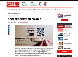 Affars Varlden newspaper; Opening Amazon parcel