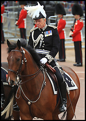 Metropolitan Police Commissioner Bernard Hogan-Howe on The Mall, mounted in full dress order at HM The Queen's Parade for her Diamond Jubilee. June 05 2012. London, United Kingdom. Photo By ©Mark Chappell/i-Images. All Rights Reserved. See instructions