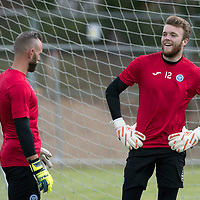St Johnstone Training…23.06.17<br />Keepers Alan Mannus (left) and Zander Clark pictured during a training session at McDiarmid Park<br />Picture by Graeme Hart.<br />Copyright Perthshire Picture Agency<br />Tel: 01738 623350  Mobile: 07990 594431