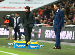 November 10, 2017 - London, England, United Kingdom - L-R Joachim Low Head Coach of Germany and England's Manager Gareth Southgate..during International Friendly match between England  and Germany  at Wembley stadium, London  on 10 Nov  , 2017  (Credit Image: © Kieran Galvin/NurPhoto via ZUMA Press)