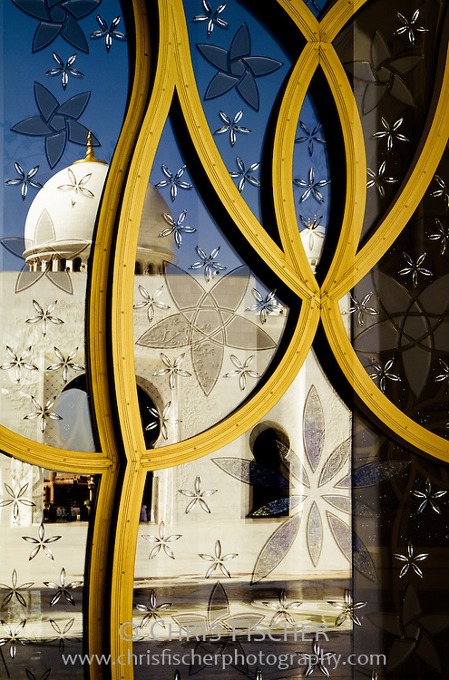 Reflection at Sheikh Zayed Grand Mosque, Abu Dhabi, UAE.
