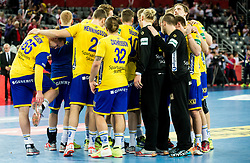 Players of Sweden after the handball match between National teams of Sweden and Norway on Day 7 in Main Round of Men's EHF EURO 2018, on January 24, 2018 in Arena Zagreb, Zagreb, Croatia.  Photo by Vid Ponikvar / Sportida