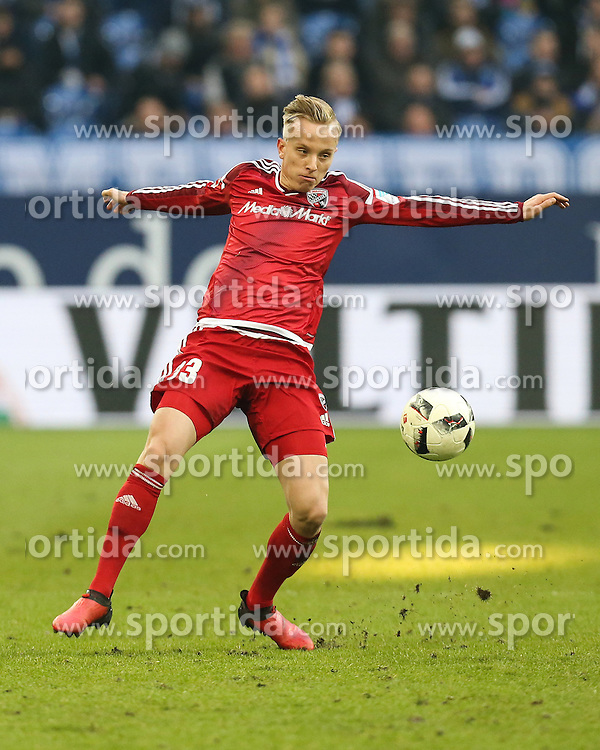 21.01.2017, Veltins Arena, Gelsenkirchen, GER, 1. FBL, Schalke 04 vs FC Ingolstadt 04, 17. Runde, im Bild Florent Hadergjonaj (#33, FC Ingolstadt 04) // during the German Bundesliga 17th round match between Schalke 04 and FC Ingolstadt 04 at the Veltins Arena in Gelsenkirchen, Germany on 2017/01/21. EXPA Pictures &copy; 2017, PhotoCredit: EXPA/ Eibner-Pressefoto/ Deutzmann<br /> <br /> *****ATTENTION - OUT of GER*****