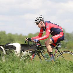 WIELRENNEN Rijssen, de 62e ronde van Overijssel werd op zaterdag 3 mei verreden. Jeffrey Perrin (Team USA)