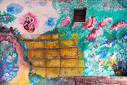 Painted wall off Jampettah Street.<br />  near St. Anthony's Church, Kochchikade. Colombo 13. Good Friday, 2015