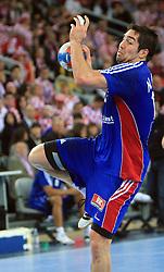 Nikola Karabatic (13) of France during 21st Men's World Handball Championship 2009 Main round Group I match between National teams of France and Sweden, on January 24, 2009, in Arena Zagreb, Zagreb, Croatia.  (Photo by Vid Ponikvar / Sportida)