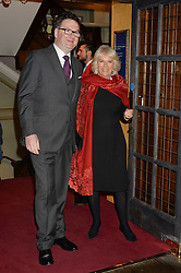 EWAN VENTERS and the DUCHESS OF CORNWALL at a party hosted by Ewan Venters CEO of Fortnum & Mason to celebrate the launch of The Cook Book by Tom Parker Bowles held at Fortnum & Mason, 181 Piccadilly, London on 18th October 2016.