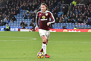 Burnley Midfielder, Jeff Hendrick (13) goal scorerduring the Premier League match between Burnley and Bournemouth at Turf Moor, Burnley, England on 10 December 2016. Photo by Mark Pollitt.